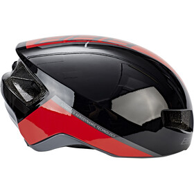 BBB Tithon BHE-08 Casque, glossy black/red